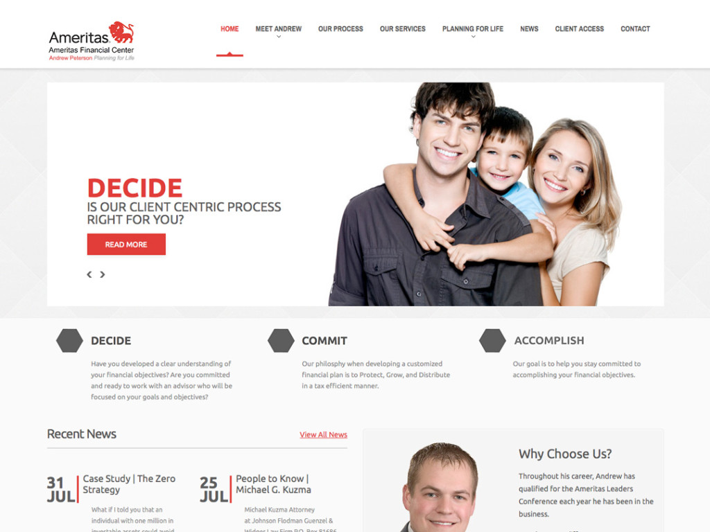 Andrew Peterson Financial Website
