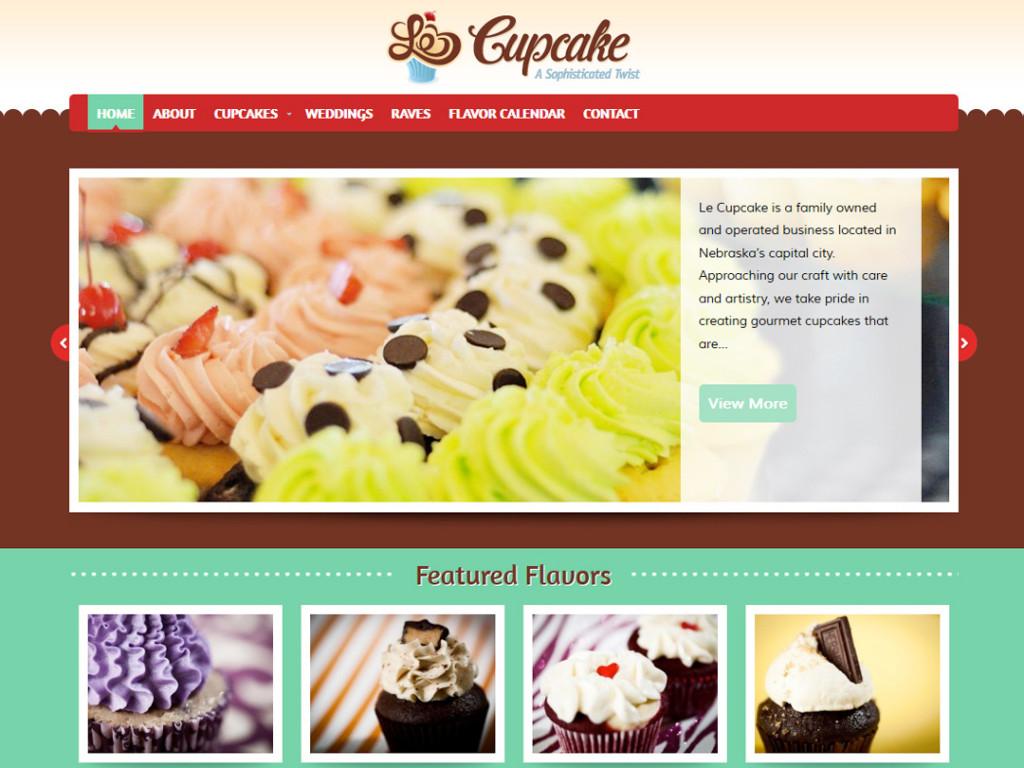 Le Cupcake Website