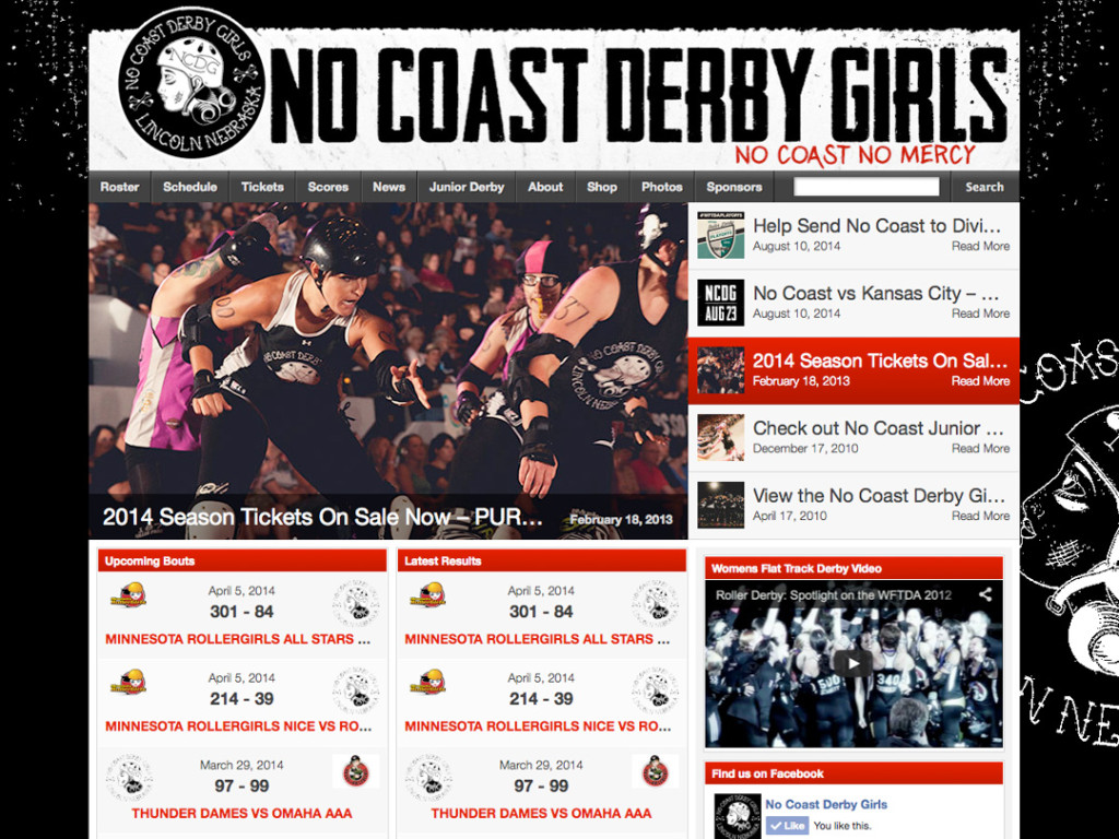 No Coast Derby Girls Website
