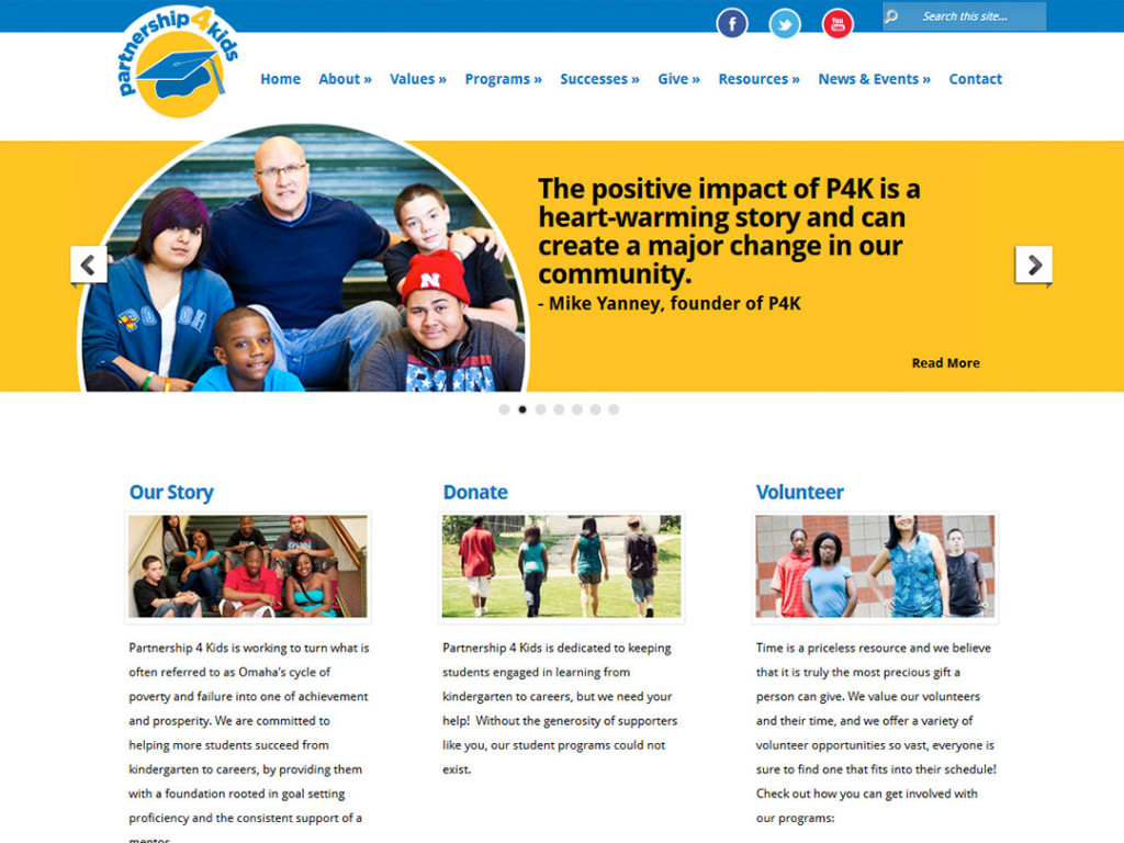 Partnership 4 Kids Website