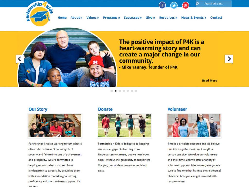Partnership 4 Kids Website
