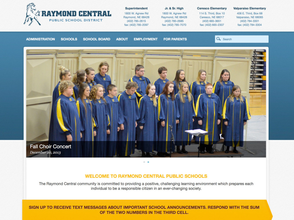 Raymond Central High School Website