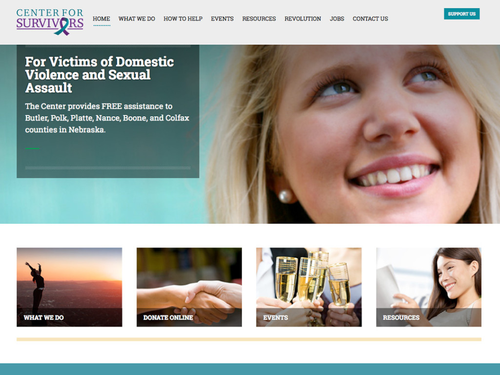 Center for Survivors Website