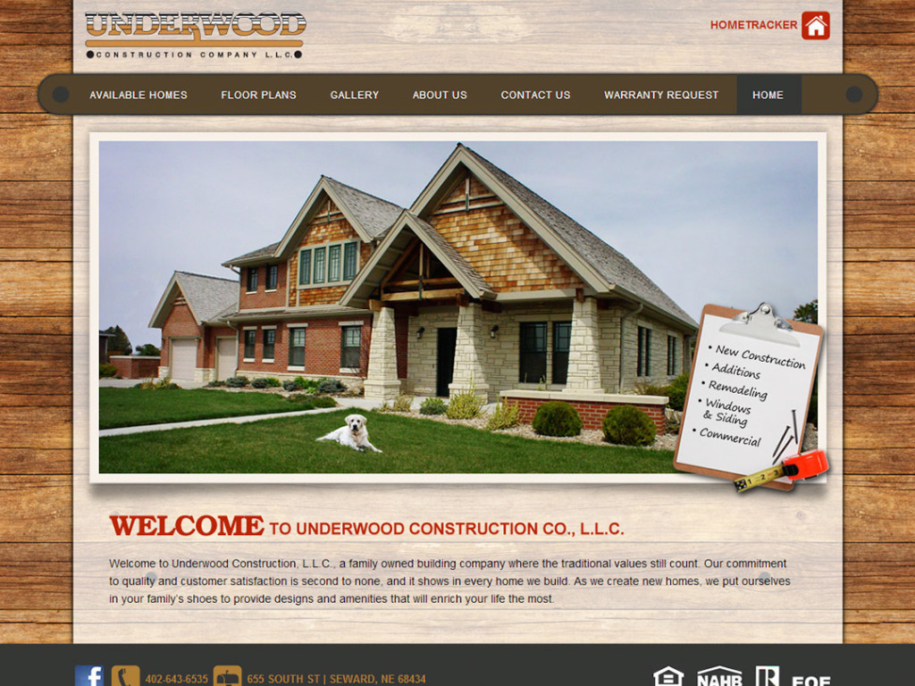 Underwood Construction Website