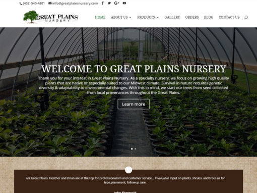 Great Plains Nursery Website