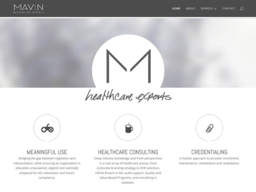 Mavin Healthcare Website