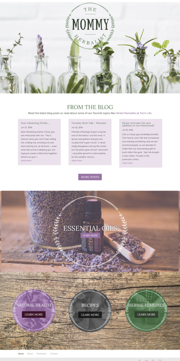 mommyherbalist  Longmont Website Design Image