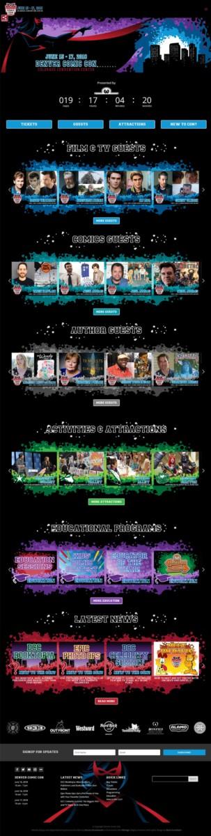 denvercomiccon  Longmont Website Design Image