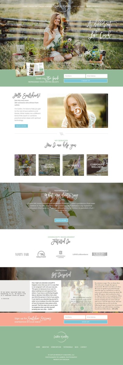 caitlin  Longmont Website Design Image