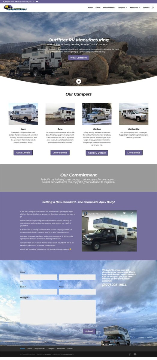 outfitter  Longmont Website Design Image